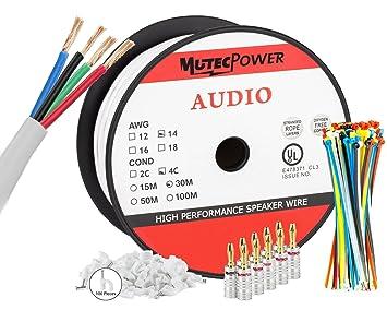 MutecPower - 30 Meter In-Wall Lautsprecherkabel - 14AWG: Amazon.de ...