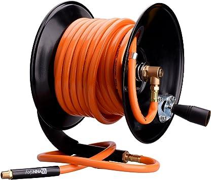 ReelWorks Hand Crank Air Compressor Hose Reel Without Hose 3/8 x ...