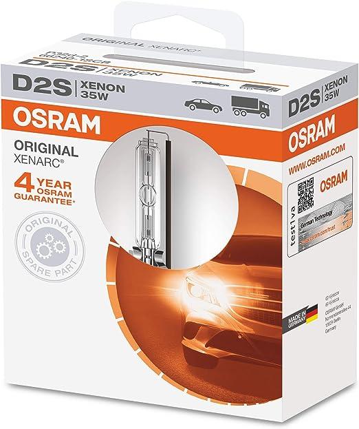 qualit/à OEM lampada a scarica OSRAM XENARC ORIGINAL D2S bulbo allo xeno 1 lampada astuccio appendibile 66240-1SCB