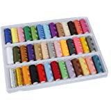 KINGSO 39 Rolls Assorted Colour Spools Cotton Thread For Sewing Hand Machine
