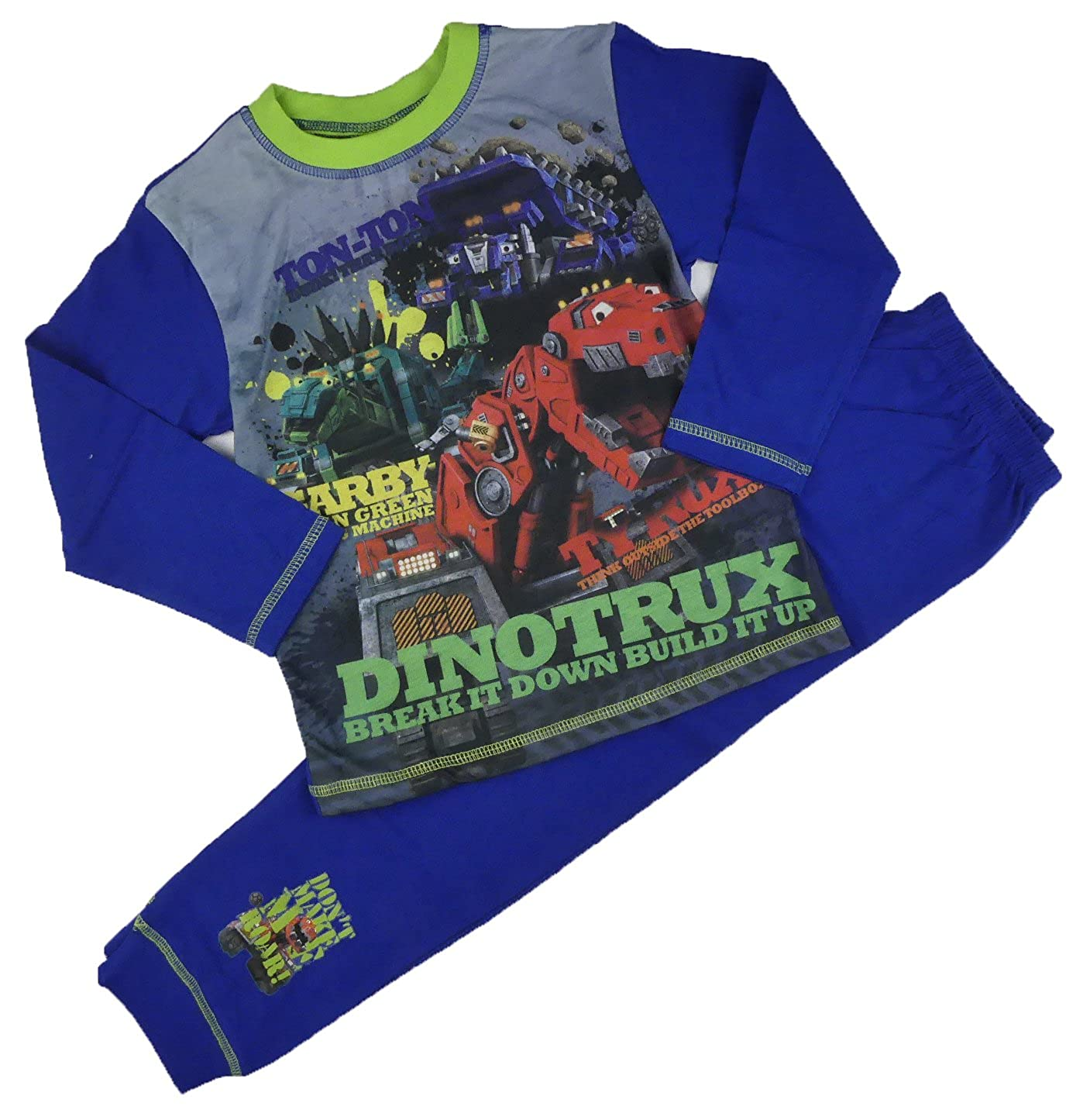 Boys DinoTrux Pyjamas Sleepwear Nightwear Ages 4-5 To 9-10Y TY Garby Ton-Ton