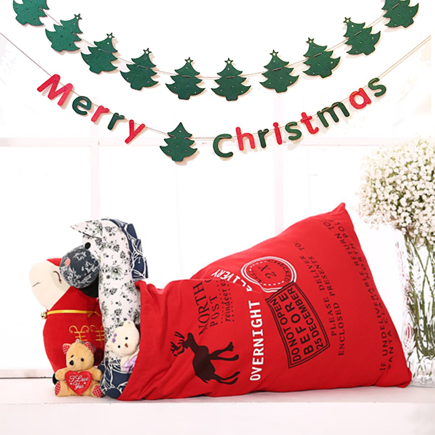 Amazon Gutap Postmark Canvas Bag Santa Sack Gift with