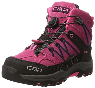 CMP Unisex-Kinder Rigel Trekking-& Wanderhalbschuhe, Pink (Pink Fluo-Asphalt), 28 EU