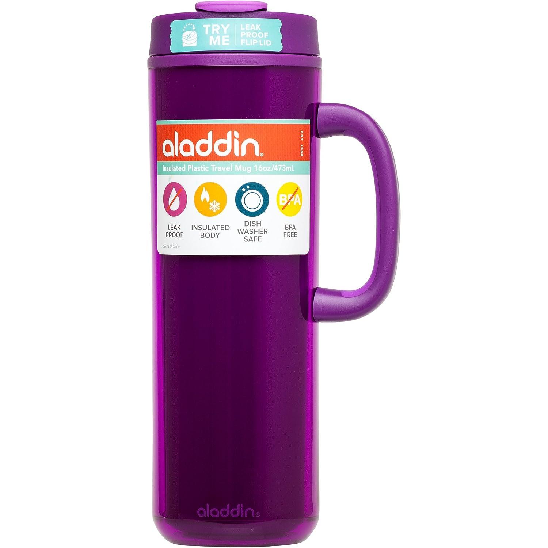 Amazon aladdin coffee mugs - Amazon Com Aladdin Insulated Plastic Travel Mug 16oz Berry Kitchen Dining