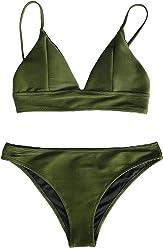 eca2897ddf7 CUPSHE Women's Cosy Bay Lace Up at Back Bikini Set
