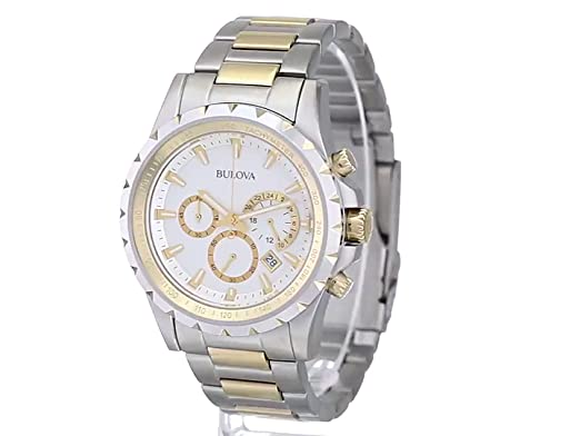 b50758f33f0 Amazon.com  Bulova Men s 98B014 Marine Star Stainless Steel Chronograph  Watch  Bulova  Watches