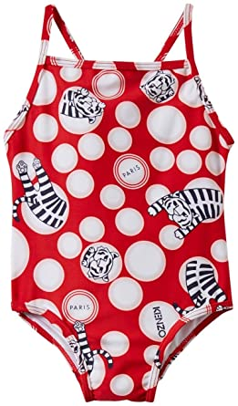 65df4b2004 Kenzo Baby Girl's Tiger Jumping Swimsuit One-Piece (Infant) Red 12M (12