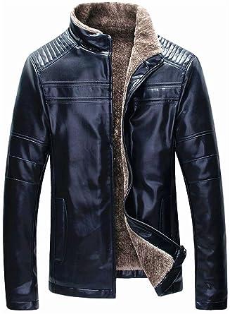 Manteau cuir laine mouton