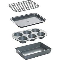 Chicago Metallic Juego de moldes profesionales para horno tostador, antiadherente, 4 piezas