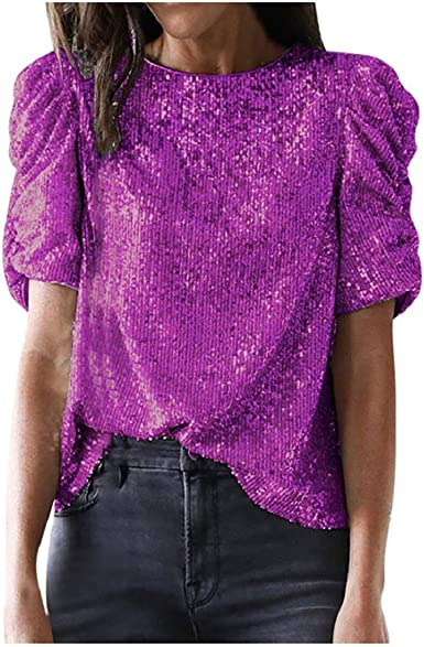 DEELIN Camiseta Manga Corta Mujer Fashion Short Sleeve Solid ...