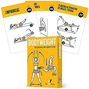 NewMe Fitness Cartas de Ejercicio para Cuerpo – Guía de Programa de Ejercicios con Entrenador Personal