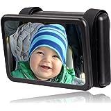 Wicked Chili Baby Spiegel Easy View - Rückspiegel für Babyschalen, drehbar, Spiegel Größe: 140 x 88 mm, schwarz