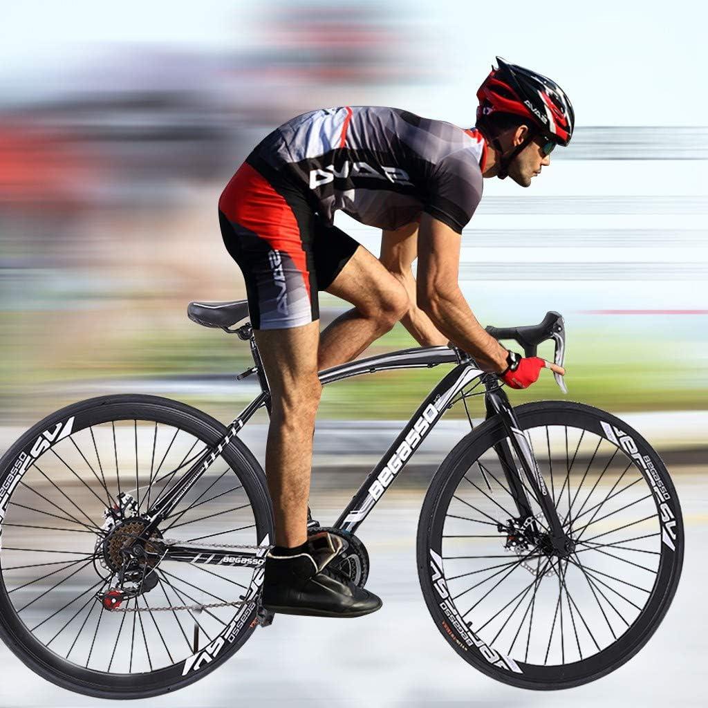 700c Bicycle JQjian Aluminum Full Suspension Road Bike 21 Speed Disc Brakes