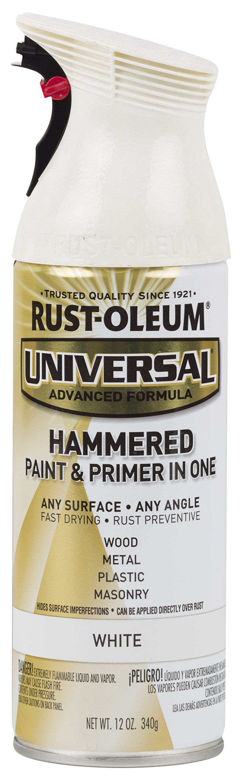 Rust-Oleum 267298-6PK Universal All Surface Spray Paint, 6 Pack, Hammered White