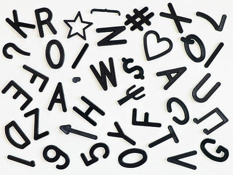 Amazon.com: Juego de letras y símbolos precortados de 2.0 in ...