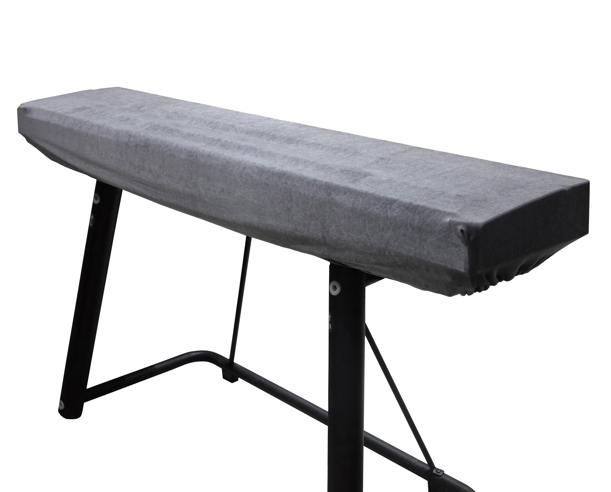 Piano Keyboard Cover Stretchy Plush Velvet Dust Cover for 88-Keys Digital Piano Keyboard (Gray)