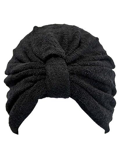Black Soft Terry Cloth Turban Head Wrap at Amazon Women s Clothing store  53de7063641