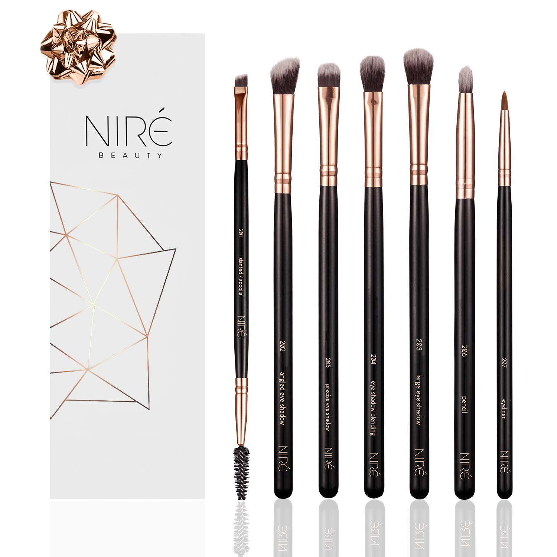 Niré Beauty Kit de Pinceaux Maquillage: Pinceaux Maquillage Professionnel DE QUALITÉ SUPÉRIEURE pour Yeux Luxe England