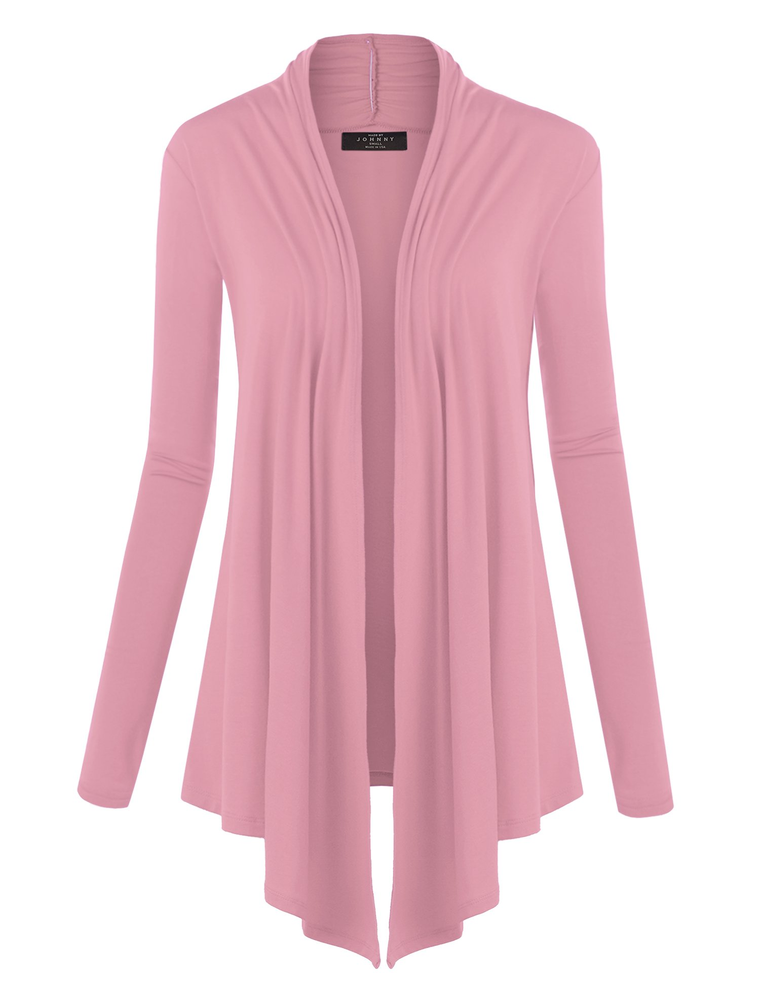 WSK850 Womens Draped Open- Front Cardigan XXL Pink by Lock and Love (Image #6)