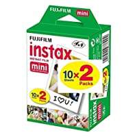 Fujifilm Instax Mini Film 20 Prints for Fuji 8 50s 25 7s 90 300, Full Color, Twin Pack