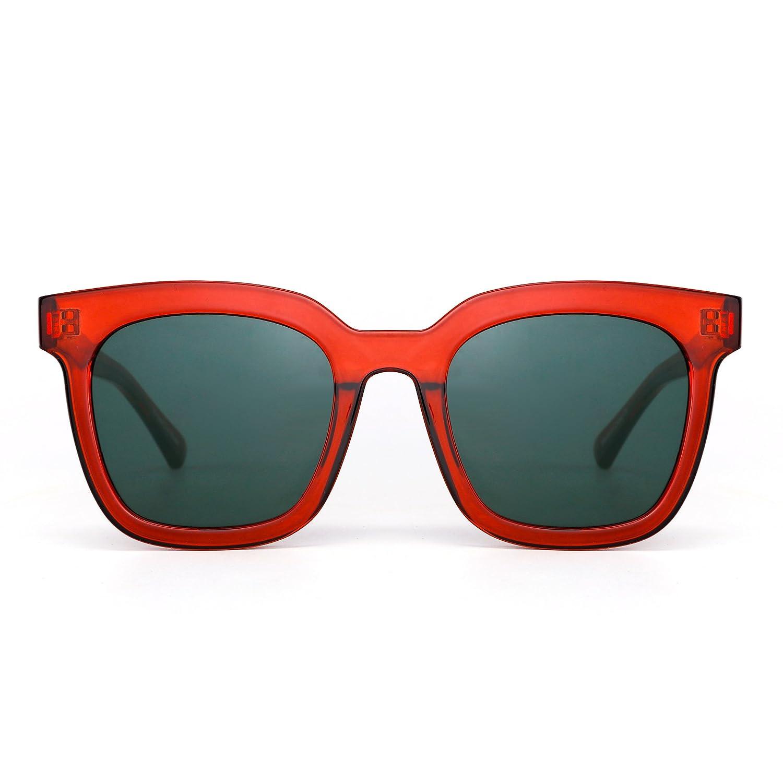 Gafas de Sol de Espejo Plano Oversized Diseñador Cuadrado Tintado Anteojos Mujer