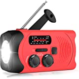 [Upgraded Version] RunningSnail Emergency Weather AM/FM NOAA Solar Powered Wind up Radio with SOS, 2000mAh Power Bank…
