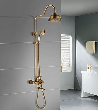 Grifo de ducha MOCHUAN diseño vintage, latón de lujo, incluye ...