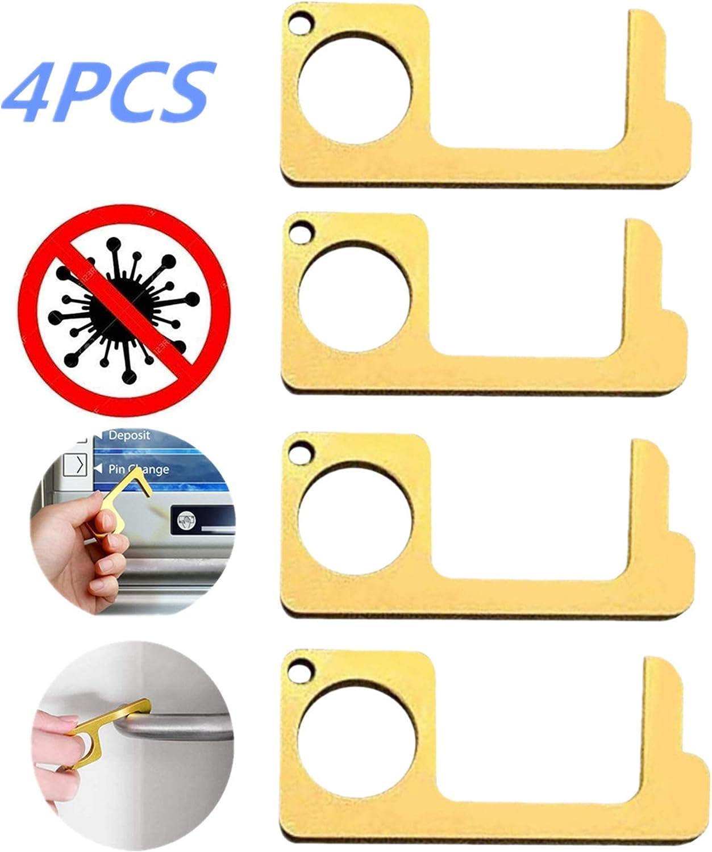 Abridor de puerta sin contacto, 4 piezas, tampón de cierre de puerta grande artefacto de cierre automático de puerta cortafuego cerrado resorte de golpe libre doméstico