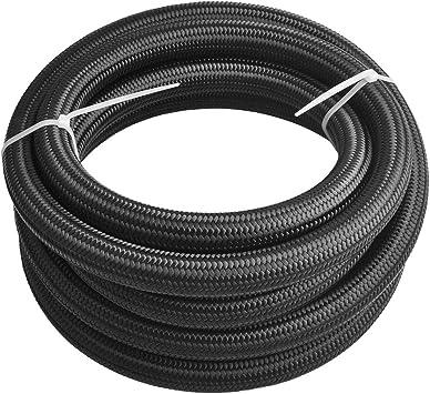EVIL ENERGY 20Ft 10AN 5//8 Fuel Line Fitting Kit Nylon Braided CPE Oil Hose Universal Black