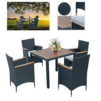 Hengda® 4+1 muebles de jardín Modular Ratán Mesa de comedor ...