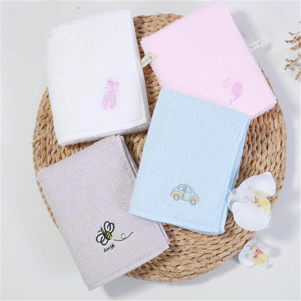 MF 30 x 55 cm 100% algodón bordado dibujos animados patrón suave bebé niños toalla de cara de la mano (gris), azul, 30x55cm M&F