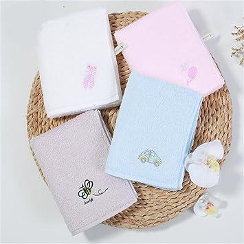 MF 30 x 55 cm 100% algodón bordado dibujos animados patrón suave bebé niños toalla de cara de la mano (gris), Rosa, 30x55cm: Amazon.es: Hogar