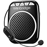 WinBridge WB711 Rechargeable Voice Amplifier with UHF Wireless Microphone 10W Belt Clip for Teaching, Meeting, Promotion…