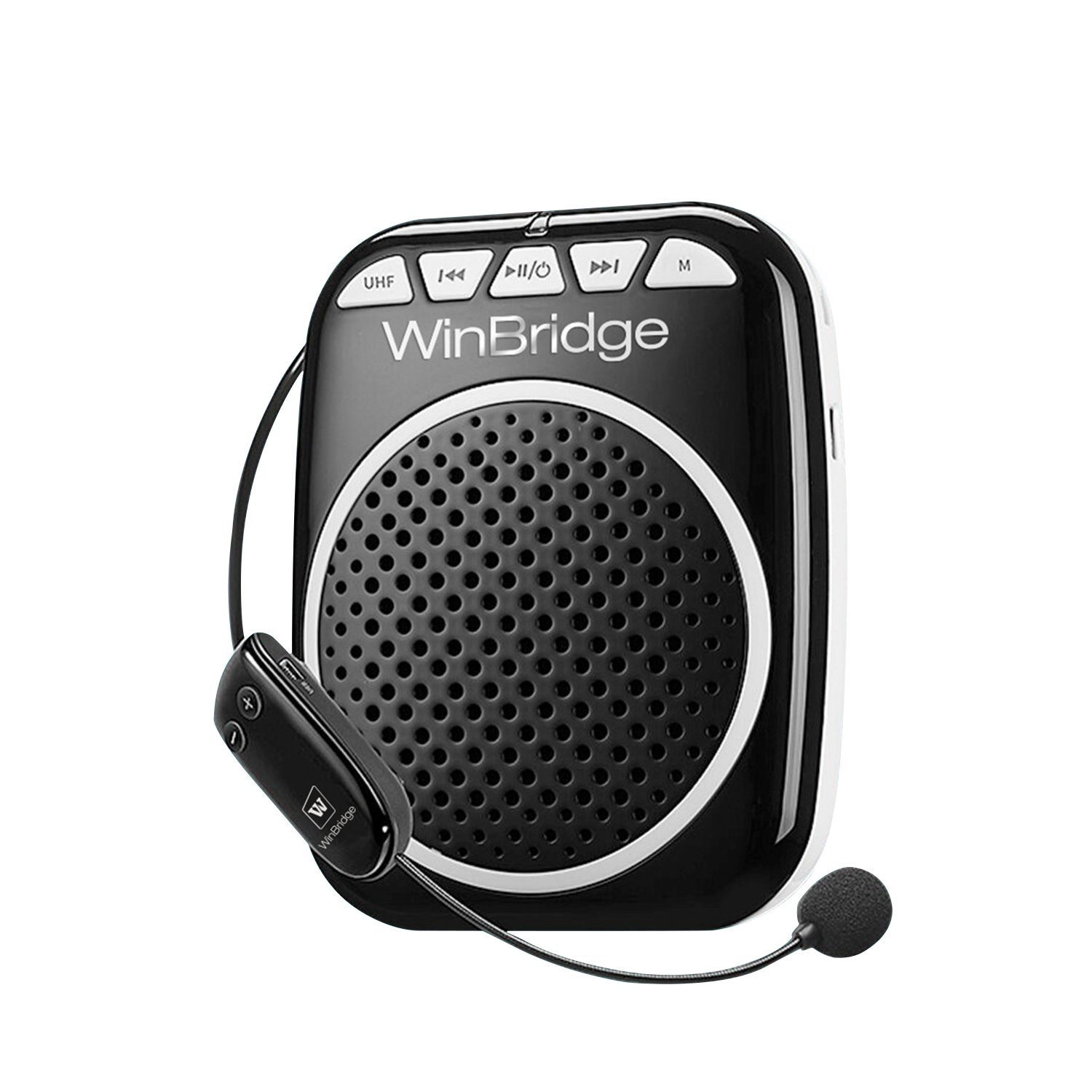 WinBridge Wireless Voice Amplifier WB711 Microphone with Speaker Amplifier for Voice Personal Instrument Microphones Systems Wireless for Tour Guide Teachers Coaches Classroom Elderly Etc