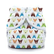 Thirsties Duo Wrap Cloth Diaper Cover, Snap Closure, Hoot Size One (6-18 lbs)