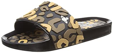 3d1dfdf74abb52 Vivienne Westwood + Melissa Women s VW Beach Slide Leopard Open Toe Sandals