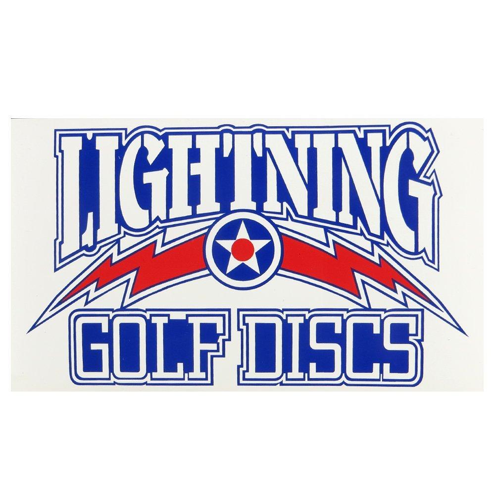 LightningゴルフDiscsロゴディスクゴルフステッカー B0193UNVIK  Large - 3.5\