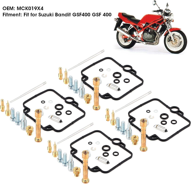 Ladieshow 4Sets Motorrad Vergaser Vergaser Reparatursatz MCK019X4 Teil Fit f/ür Suzuki Bandit GSF400 GSF 400