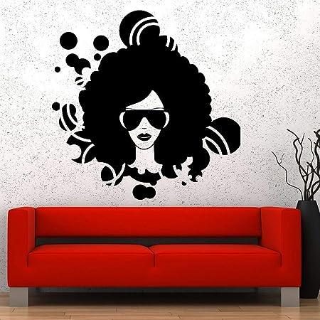 xinyouzhihi American Afro Girl Tatuajes de Pared para Aula de ...