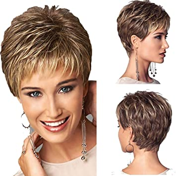 Short Hair Wigs for Women,Curly Synthetic