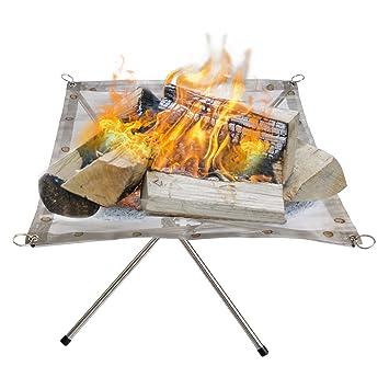 Al aire libre estufa de Camping con malla de acero ...