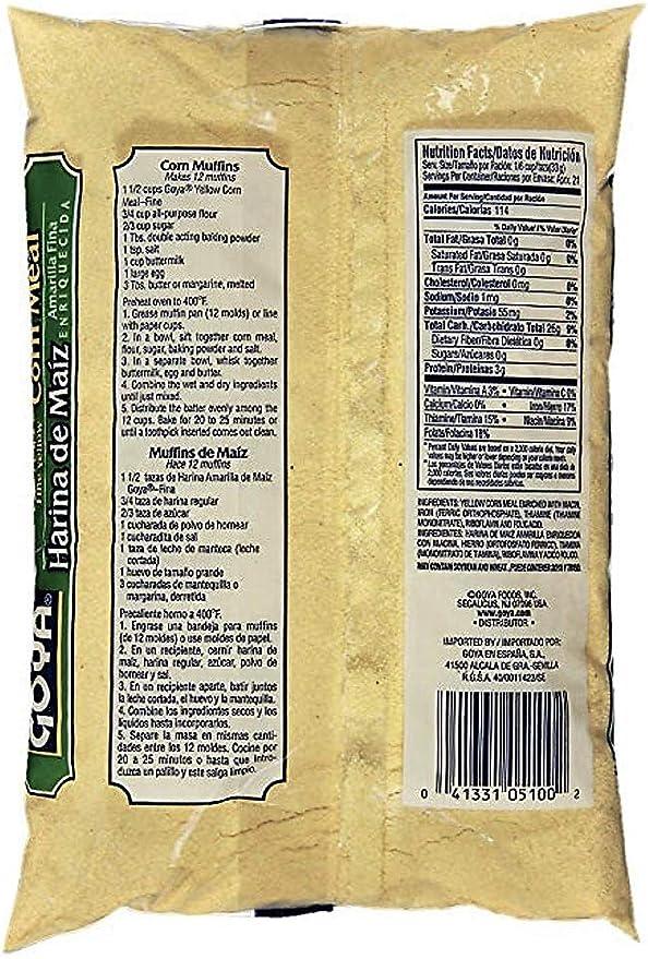 Goya - Harina de Maiz Amarilla - 24 oz cada una, paquete de 2 (48 oz)