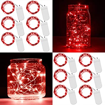 Amazon.com: Enuoli - 12 paquetes de luces LED de hadas ...