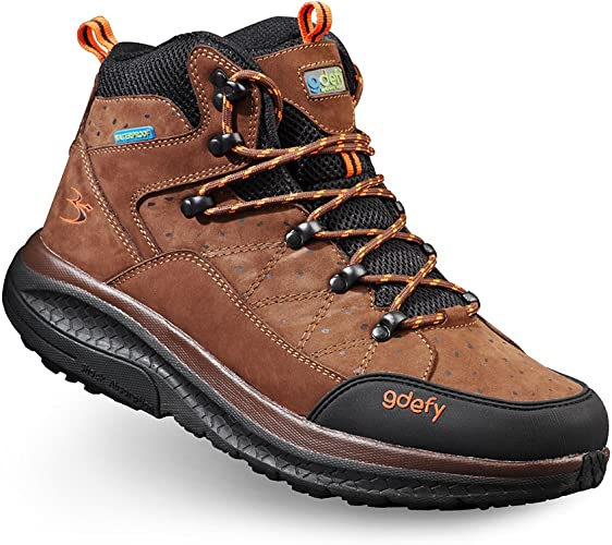 Mens G-Defy Trail Lane Mid Cut Clinically Proven Pain Relief Hiking Boots with Ankle Support