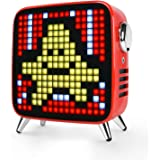 Divoom Tivoo Max 40W Premium Retro Pixel Bluetooth Speaker with 16X16 LED Customized Front Panel (Red)