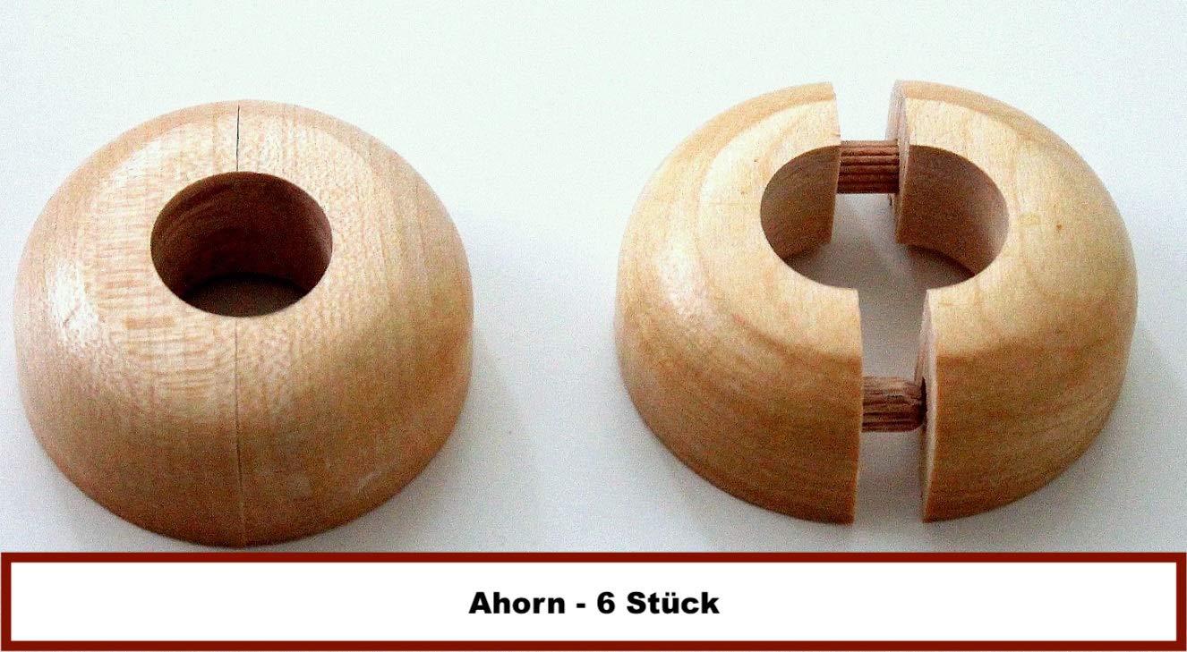 Echtholz: Ahorn Buche Heizung 19mm 22mm 15mm Eiche Holz 6 ST/ÜCK Einzel-Rosetten f/ür Heizungsrohre 15mm, Ahorn Abdeckung f/ür Heizungsrohre