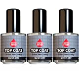 Excuse Me Quick Dry Fast Nail Polish Top Coat 0.5 oz 15ml (Pack of 3)