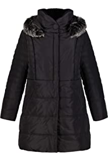 Womens Plus Size Apt 9 Quilted Hooded Puffer Commuter Coat MSRP $240.00