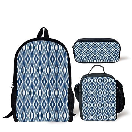 3dd66d1d3b7e Amazon.com: School Lunch Pen Bags,Ikat,Ethnic Ikat Design with ...