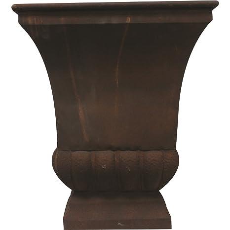 Gardman 8225 Large Rustic Metal Urn Planter 15 75 Long X 15 75